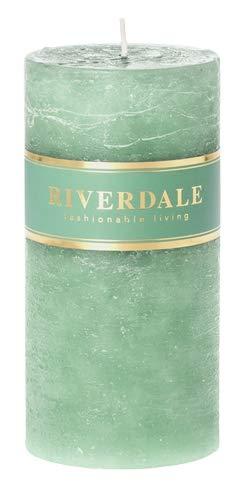 Riverdale - Kaars Pillar pastel groen 7x14cm