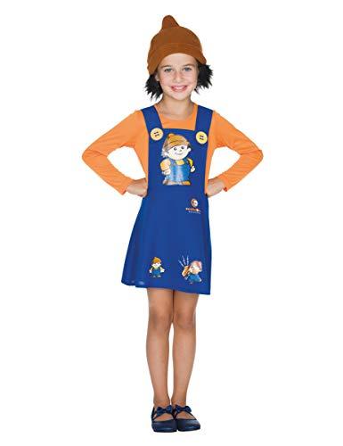 Generique - Costume da Uomo Anton Mainzel, per Bambini, Blu/Arancione, 122/128 (7-8 Anni)