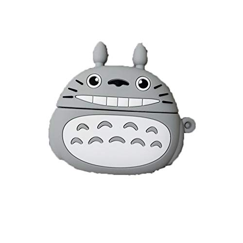 Carcasa De Dibujos Animados 3D para Auriculares, Funda Protectora De Silicona, Compatible con Apple Airpods 1/2, Funda Protectora Ultrafina A Prueba De Golpes E Impermeable-Totoro