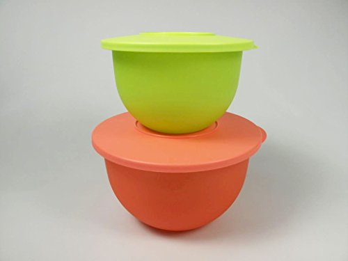 TUPPERWARE Junge Welle 2,5 L orange + 1,3 L limette Schüssel Servierschale 7300