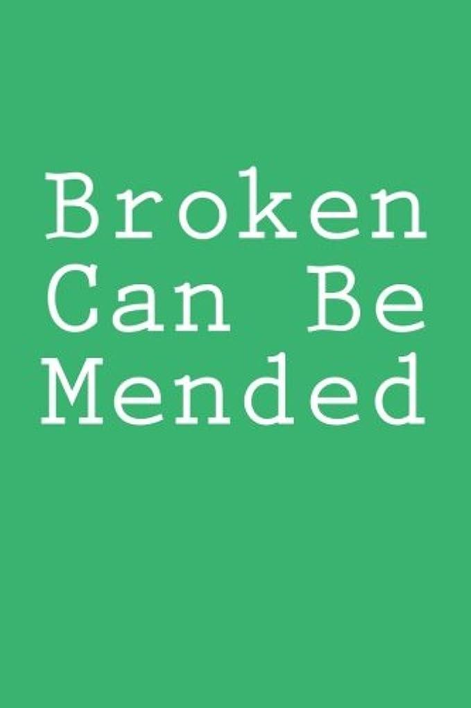 安定した申込み狂気Broken Can Be Mended: Notebook, 150 Lined Pages, Glossy Softcover, 6 x 9