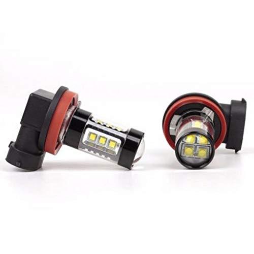 juler Lot de 2 Ampoules LED H8/H11 6 000 K pour Feux de Circulation diurnes 12 V CC