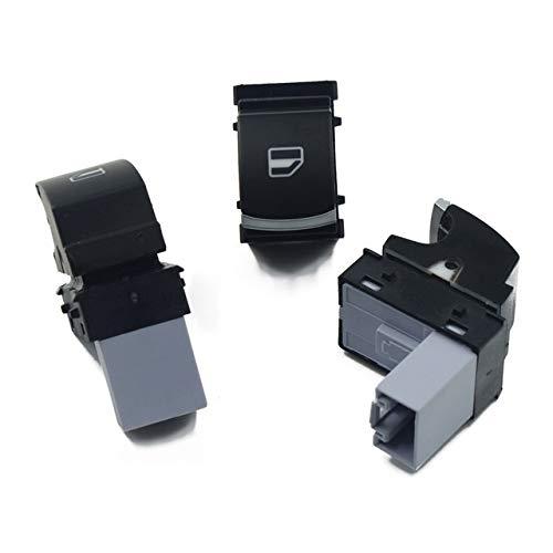 CJYSJK BotóN De Interruptor De Coche B6 Ventana de energía del Interruptor de Control de botón de configuración/Ajuste for Volkswagen/Fit for el Golf MK5 6 / Ajuste for Jetta/Ajuste for Passat