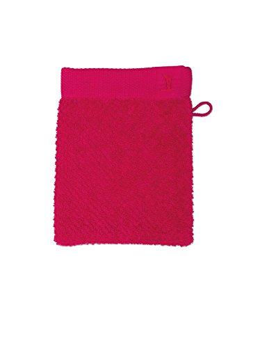 möve New Essential gant de lavage 15 x 20 cm en 100% coton, carmine