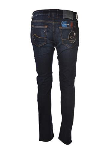 Jacob Cohen Jeans Nick Slim mit Reißverschlüssen NICK01176W15001-JeansTelaStrechStrappi-001LavMedioScuro, Blau 26