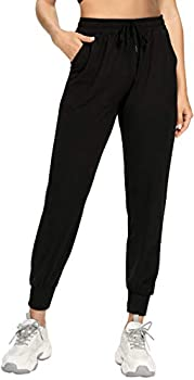 FULLSOFT Sweatpants for Women-Womens Joggers with Pockets Lounge Pants for Yoga Workout Running Black