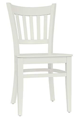 Set 2 Stühle Stuhl Esszimmerstuhl Küchenstuhl Buche massiv Creme T002