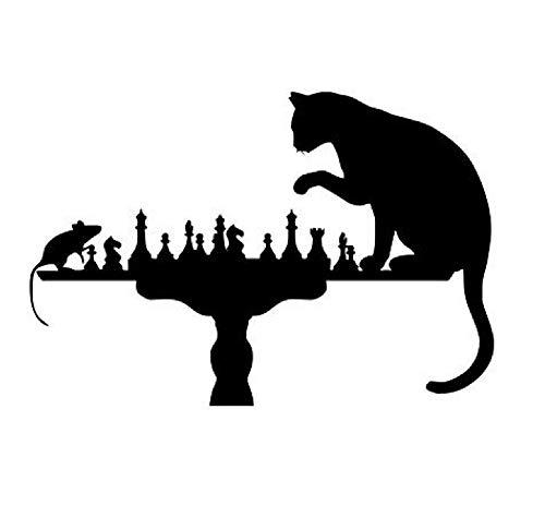 2021年新しい老鼠和猫下棋一代精雕可移解TT性墙书房客厅卧室沙ρ壁紙墙 (10pcs個)