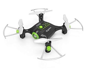 POCO DIVO Mini Pocket Drone X20P RC Quadcopter Altitude Hold Headless Micro Helicopter LED Remote Control Quad Copter Black
