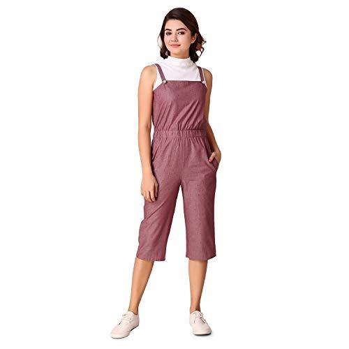 TEXCO Women's Midi Jumpsuit (TCS-1827-M_Pink_Medium)