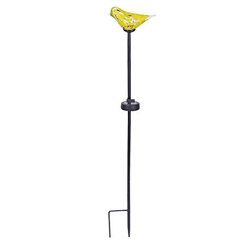 Lámparas de Techo Exteriores Luces solares del jardín, luz solar, luz del césped impermeable al aire libre del jardín de cristal Bird poste de luz, for la familia Reuniones, festivales, Carreteras