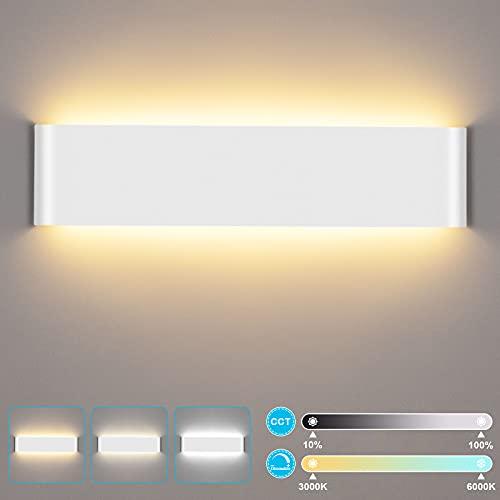 LUTDK 24W Aplique de Pared Interior LED con control remoto 2200LM Smart Aplique de Pared 3000-6000K Temperatura de color y...