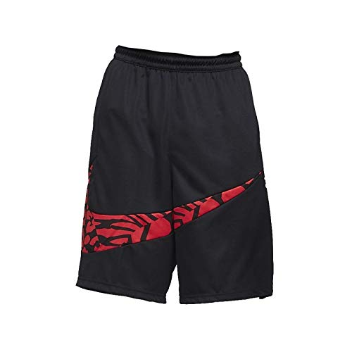 Nike M Nk Dry Hbr Short 2.0, Pantaloncini Sportivi Uomo (M, Nero/University Red)