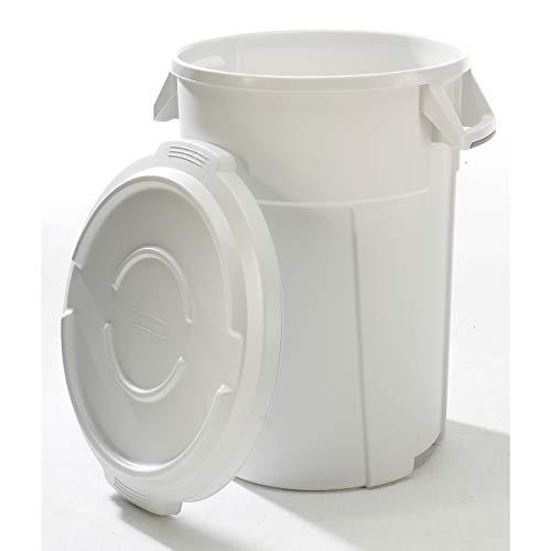 Conteneur multi-fonctions en plastique - capacité 120 l, revêtement qualité alimentaire - blanc - collecteur de déchets collecteur de tri collecteurs de tri conteneur multi-usages poubelle poubelle de tri poubelle à ordures poubelles de tri Collecteur de