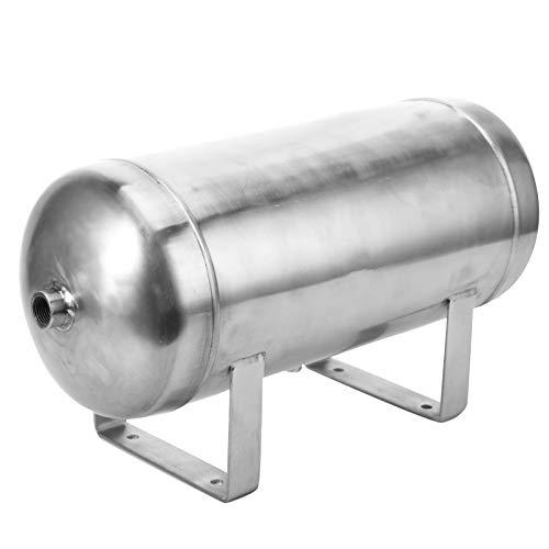 Tanque de Aire de 10L para Sistema de bocina de Aire, 2 Puertos 1/2'1 Puerto 1/4' Tanque de Almacenamiento de Gas Horizontal de Rosca, 9 mm de Orificio de Montaje Carga máxima de 1,25 MPa