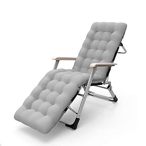 TYXTYX Coussin De Chaise,Fauteuil De Relax De Jardin pour Fauteuils Transat de Terrasse Épais Pad Outdoor Siège de Repos(Taille: 178X55X10CM, sans Chaise),Gray