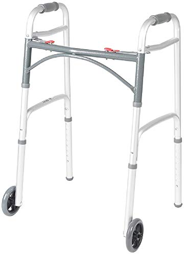 Heavy Duty Bariatric Extra Wide Folding Walker with 5' Wheels