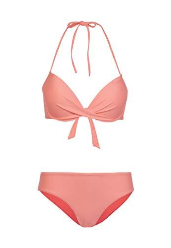 Protest Briana BCUP Damen Neckholder-Bikini Coral Blaze M/38