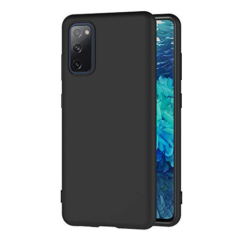 AICEK Funda Compatible Samsung Galaxy S20 FE 5G / S20 Fan Edition / S20 Lite, Negro Silicona Fundas para Samsung S20 Fan Edition Carcasa Galaxy S20 Lite Negro Silicona Funda Case (6,5 Pulgadas)
