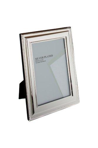 Viceni Cornice Placcata Argento con bordo rifinito a Treccia, 13x18 cm, silver