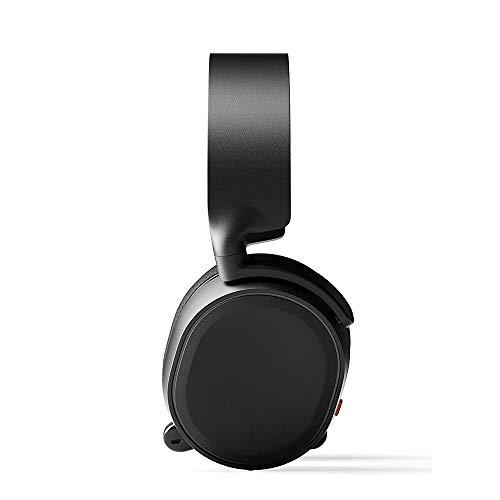 QJGhy Casque Audio Casque de Jeu 7.1 Surround Channel Microphone Casque de Jeu Casque Supra-auriculaire pour PC, Xbox One, Nintendo Switch, VR, Android et iOS Casque Gamer (Color : Black)