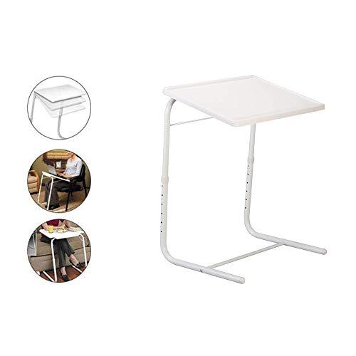 GNSDA Table Mate Bandeja de TV Plegable, Mesa de Bandeja de TV Ajustable, Bandeja de Cena de TV en la Cama y sofá, Cómoda Mesa Plegable con 6 Alturas, 4 ajustes de ángulo de inclinación
