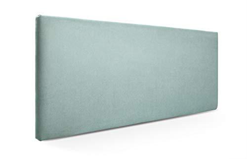 SUENOSZZZ-ESPECIALISTAS DEL DESCANSO Cabecero de Cama Liso tapizado en Tela para Camas de 90 (100 x 57 cm) Tela Verde Agua
