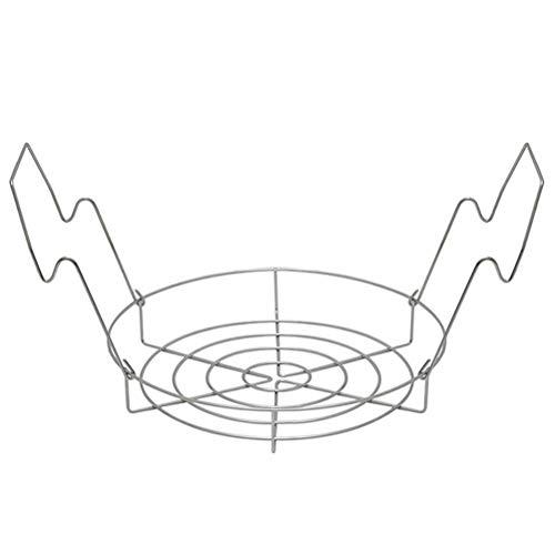 Tixiyu Dünstendes und faltbares Aufbewahrungsregal aus Silikon mit langen Griffen, tragbar, Edelstahl, 29,7 x 21,3 cm