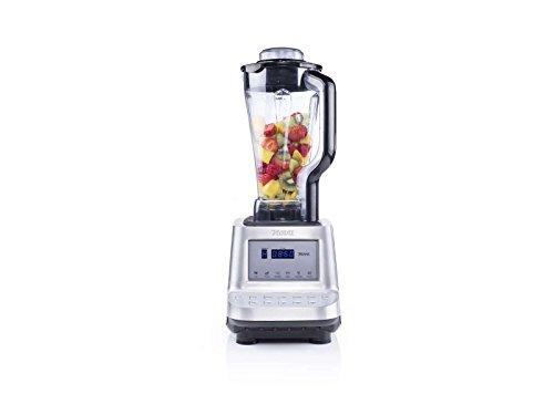 Turbo-Mixer Standmixer Behälter 2 Liter Profi Mixer Smoothie-Maker Starke 1600 Watt (Blender, Mixer, 10 Stufen, 6 Voreingestellte Programme, Zerkleinerer, Suppen-Zubereiter, Ice-Crusher, Milchshaker)