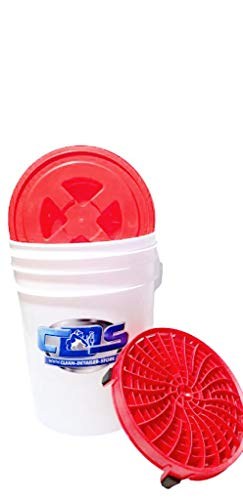 Wascheimer Set Wash Bucket Set 5,28 US Gallonen (ca. 20 Liter) Inkl. Deatil Guardz Dirt Lock & Gamma Seal Deckel/In mehreren Farbkombinationen erhältlich bitte bei der Bestellung angeben.