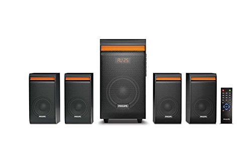Philips SPA8140B/94 4.1 Channel Multimedia Speaker System, Black