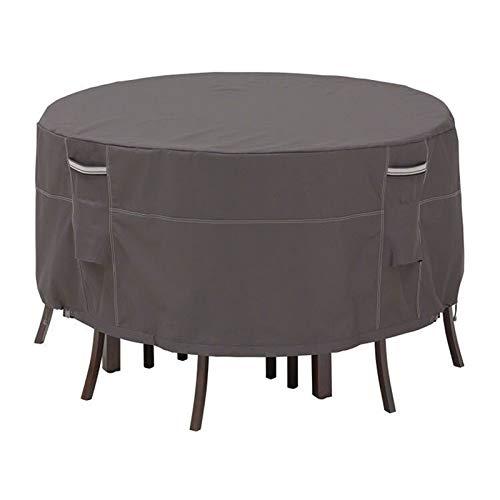 LDIW Fundas para Muebles de Jardin, Impermeables 420D Oxford Cubierta para Mesa para Mobiliario de Exterior Mesa a Prueba de Viento Anti-UV Protección,70D*23H''