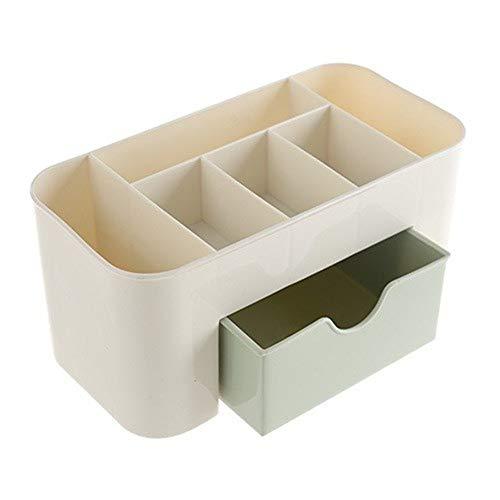 Kanggest Caja De Almacenamiento Organizadores Cosméticos para joyería Peines Pendientes Maquillaje Accesorio Rizador De Uñas Pinceles Lápiz Labial(1 cajones) (Verde)