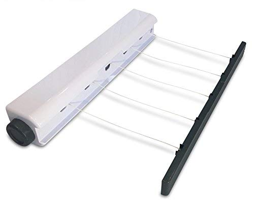 Retract-a- Línea 5 línea retráctil para tender tendedero para interiores tendedero...