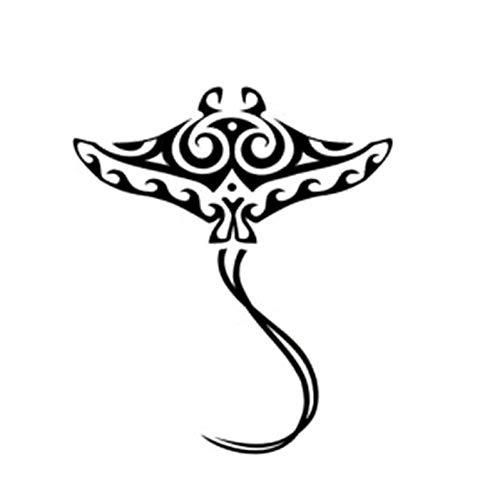 WYLYSD Auto-Aufkleber 13,6 cm X 15,7 cm Cartoon Persönlichkeit Stingray Auto Aufkleber Decals Schwarz Silber Zubehör C11-0153