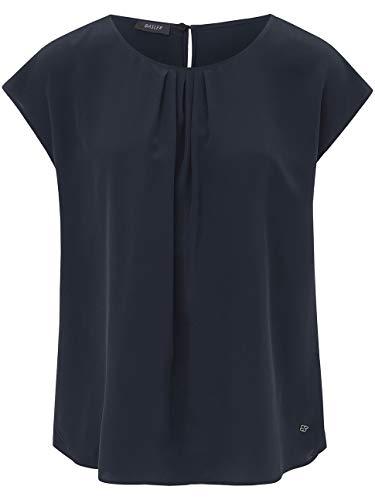 Basler Damen Bluse mit Kappärmeln und gerafftem Ausschnitt