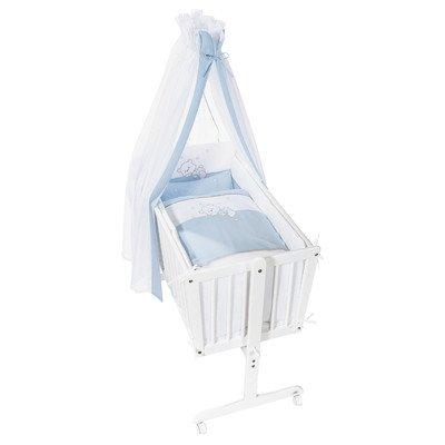 Easy Baby Berceau complet Blanc/bleu