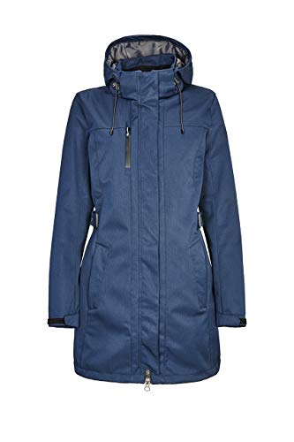 killtec Softshellparka Damen Laili - Damenjacke mit abzippbarer Kapuze - Damen Outdoorjacke mit Wassersäule 10.000 mm - Softshelljacke ist wasserabweisend, dunkelnavy, 50