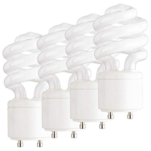 Dysmio 13 Watt Mini Spiral - GU24 Base - Mini-Twist CFL Light Bulb 60 Watt Equivalent 2700K Pack of 4