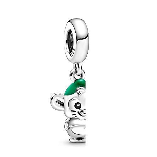 925 sterling silver ciondolo perlina cenerentola gus mouse ciondola fascino moda donna pandora braccialetto braccialetto gioielli fai da te regalo di compleanno