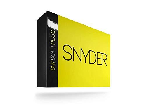 SNYDER - SNY Soft Plus Premium Golfbälle | 12 Stück | Ideal für: Weite Distanzen, gerade Flugbahnen & maximale Kontrolle | Golfball Farbe: Neon Yellow Matte