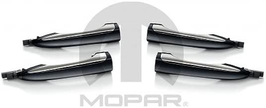 Mopar 82214703 Door Handles, Granite and Chrome, Set of Four, 4 Pack