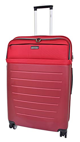 Large Size Check-in Luggage 4 Wheel Hard Shell Lightweight Travel Trolley Suitcase Bag A166 Red