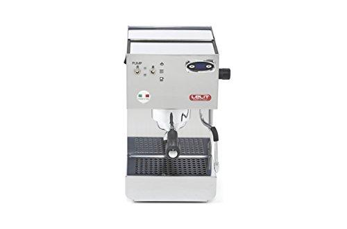 Lelit Glenda PL41PLUST semi-professionelle Kaffeemaschine, ideal für Espresso-Bezug und Cappuccino-Edelstahl-Gehäuse und PID Termperaturregler, Stainless Steel, silber