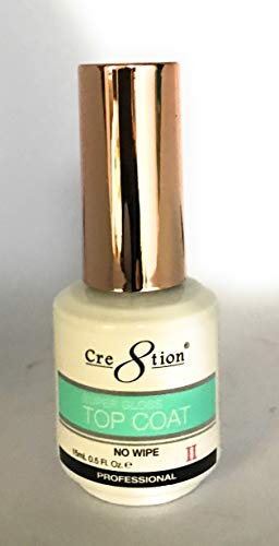 cre8tion Soak Off Gel-System Super Gloss alle Zweck kein abwischen vergilbungsbeständig Top Coat