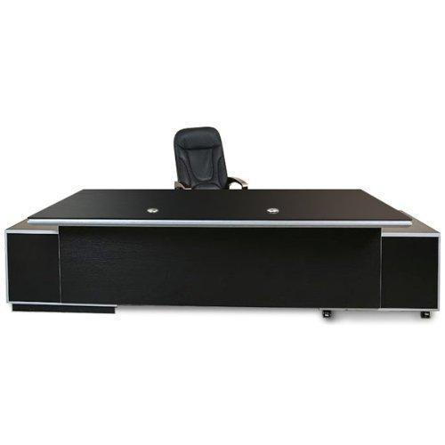 Büromöbel Büroausstattung Büro Chef Schreibtisch Kehl 2.45 m XXL schwarz Jet-Line office Ausstattung inkl. Sideboards