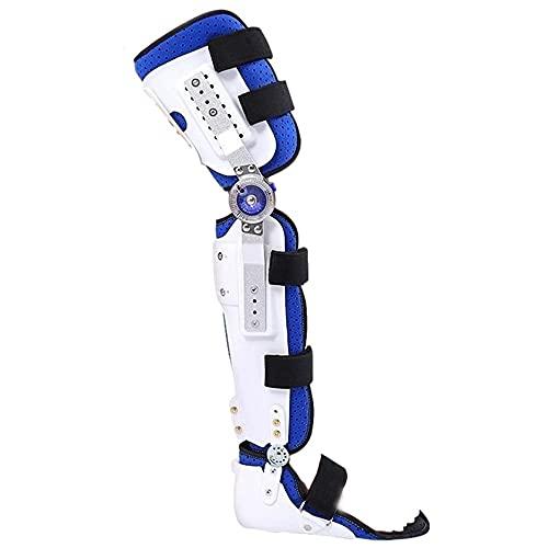BDXZJ Rodilleras Ortopedicas Articuladas, Soporte de Articulación de Rodilla Ajustable Soporte de Rótula Estabilizador Órtesis Férula, Soporte de Tobillo Reduce El Dolor de Rodilla O Artrosis