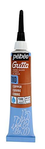 PEBEO Setasilk Silk Painting Water Based Gutta 20-Milliliter Tube, Copper