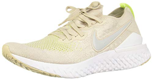 Nike Men's Epic React Fk 2 Competition Running Shoes, Multicolour (Desert Sand/Reflect Silver/White/Volt 2), 8 UK