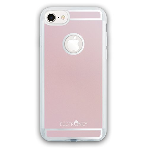 Eggtronic Qi Wireless Charging Case per iPhone 7 - Cover per Ricarica Wireless Qi (Rose Gold - Oro Rosa)